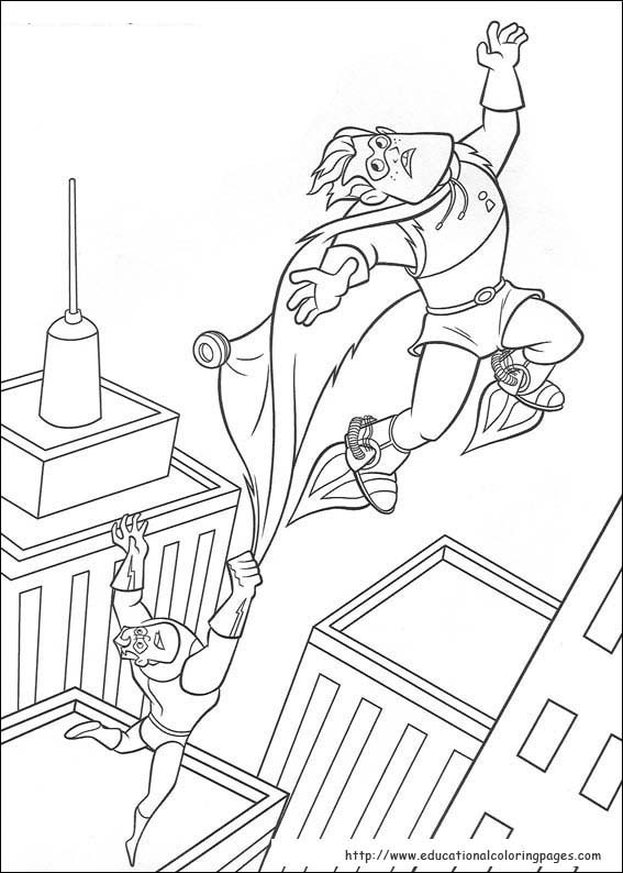 The Incredibles Coloring Pages Educational Fun Kids