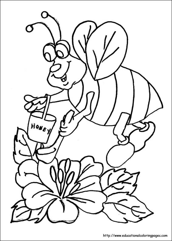 Bee Movie Coloring Pages Educational Fun Kids Coloring