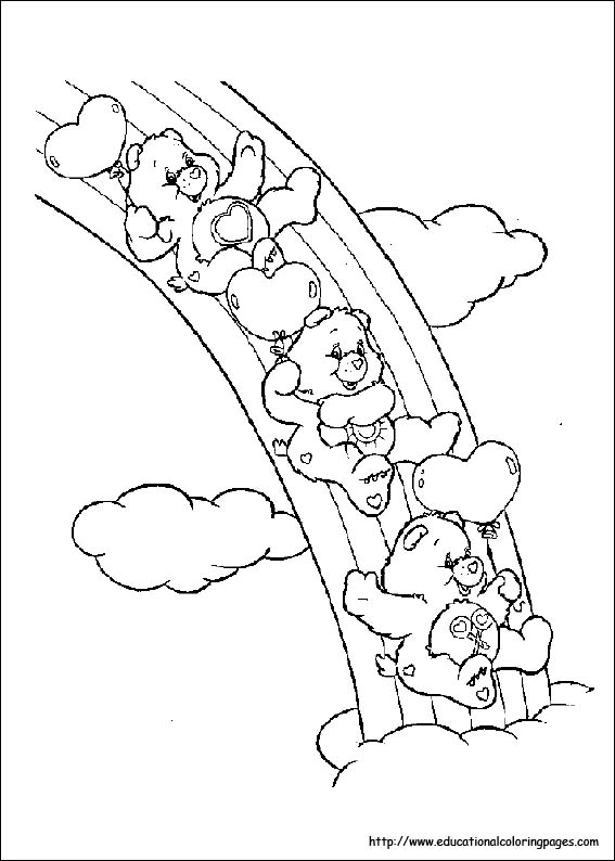 Carebears Coloring Pages free For Kids