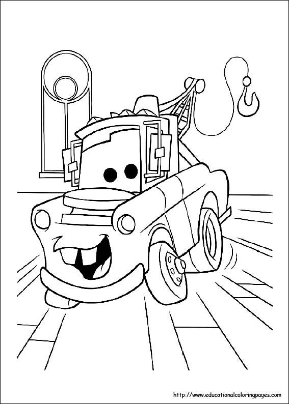 無料【ディズニーピクサー】カーズ(cars)車のぬりえ(塗り絵)画像
