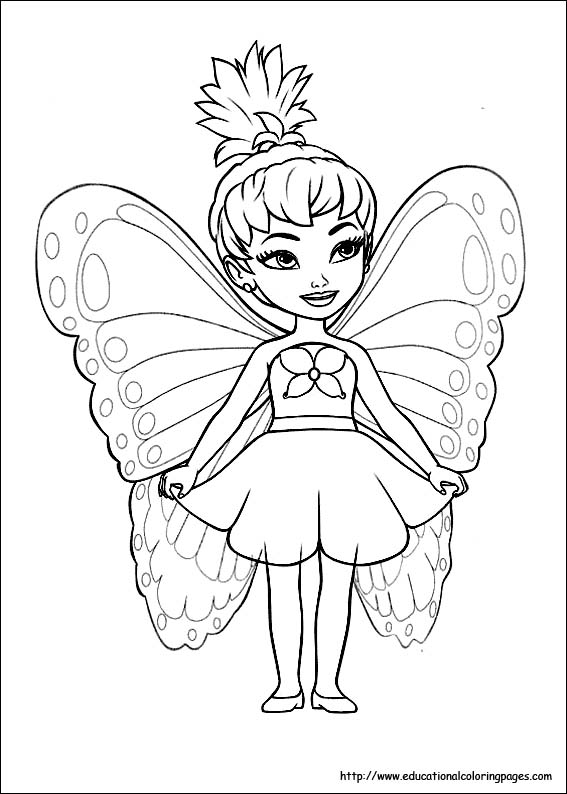 fairy princess coloring pages # 3