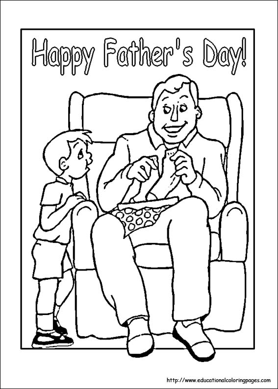 Fathers Day Coloring Educational Fun Kids Coloring