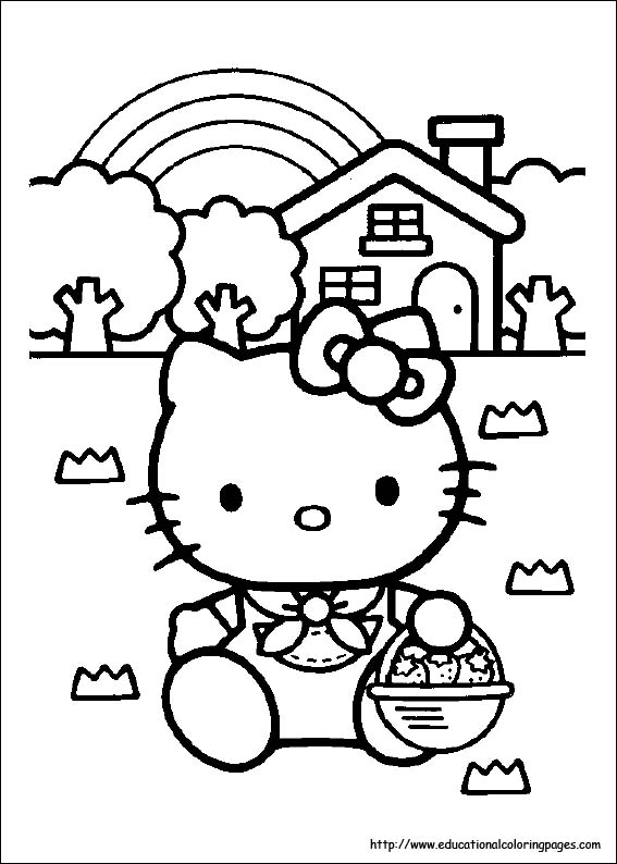 free printable hello kitty coloring pages # 1