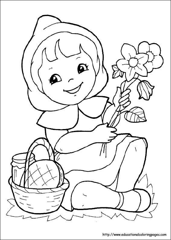 Little Red Riding Hood Coloring Pages free For Kids