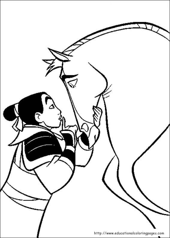 Mulan Coloring Pages Educational Fun Kids Coloring Pages