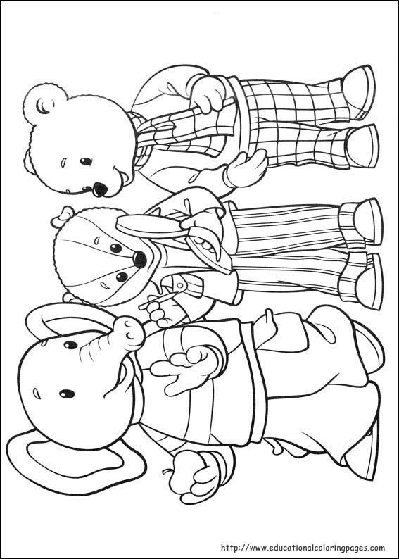 Rupert Bear Coloring Pages Educational Fun Kids Coloring