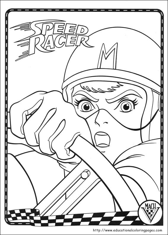 Speed Racer Coloring Pages Educational Fun Kids Coloring