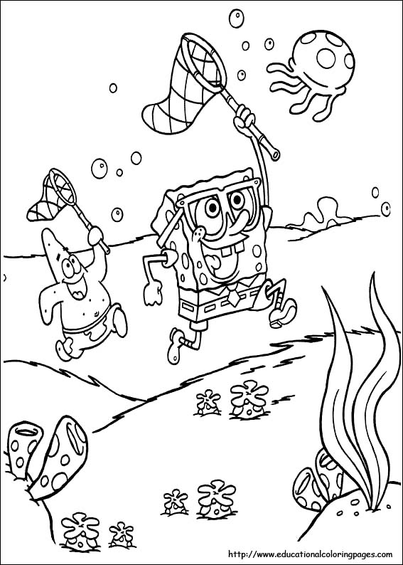 SpongeBob Coloring Pages free For Kids