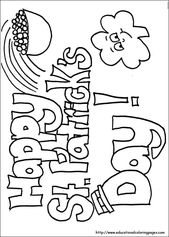 St. Patricks Day Printable Coloring Pages