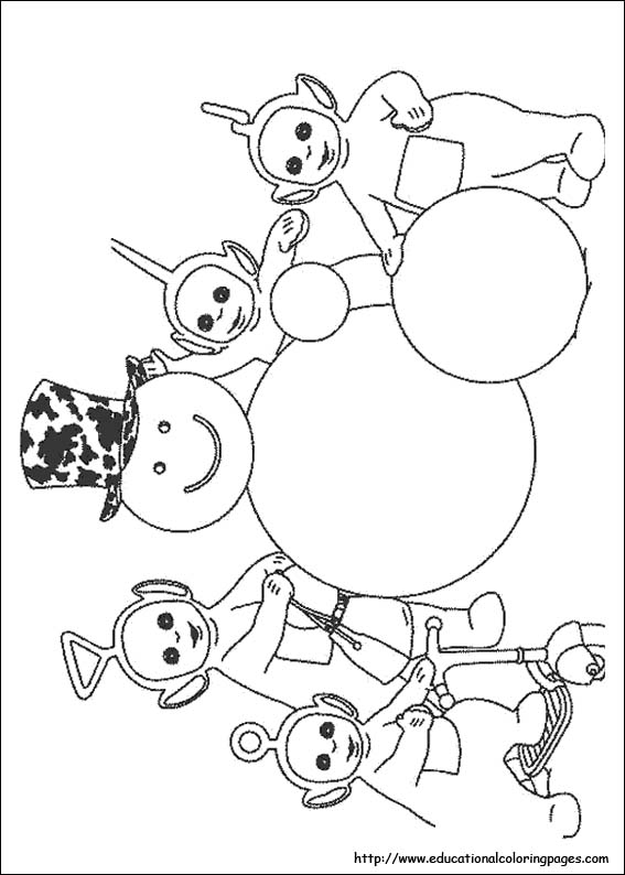 Teletubbies Coloring Pictures Educational Fun Kids