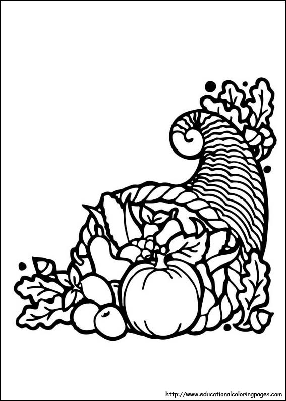 Thanksgiving Decorations with Coloring Pages and Drawings