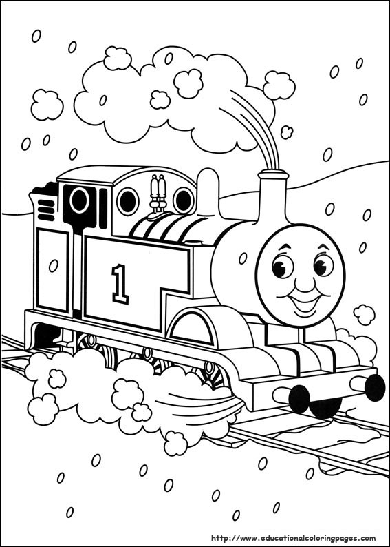 Thomas Friends Coloring Pages Educational Fun Kids
