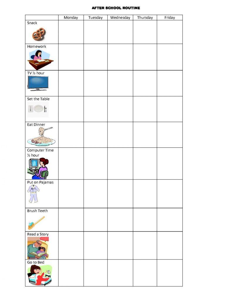 routine visual schedule