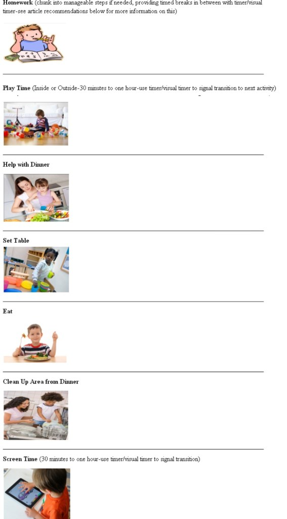 how to make a visual schedule for autism spectrum