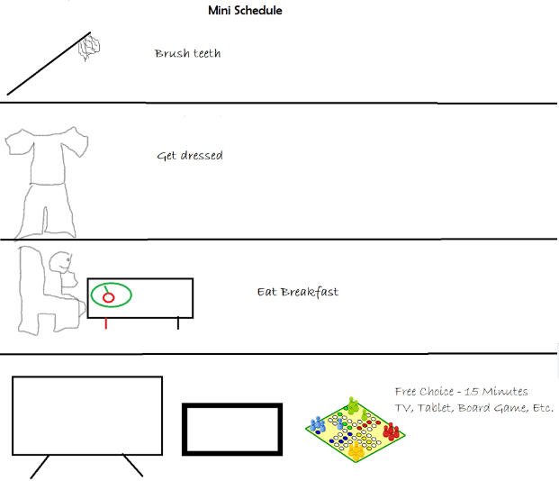free visual schedules ideas for kids behavior