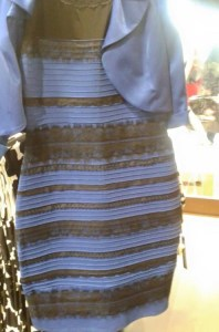 Black and blue dress