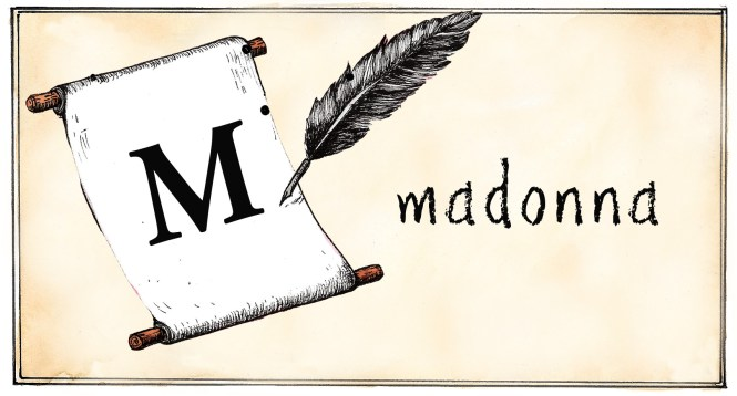M - madonna