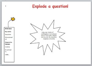 Explode a question sheet