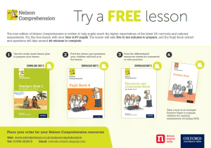 nelson comprehensive lesson free