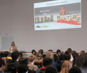 Dr Sara Baker presenting
