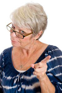 Angry teacher image