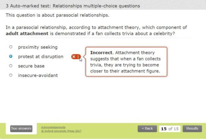 Assessment screenshot