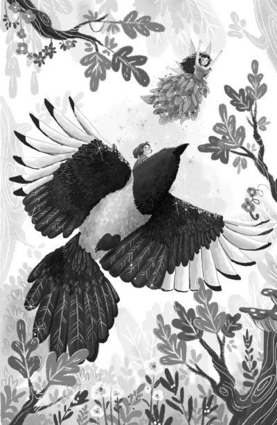 Magical Kingdom of Birds spread