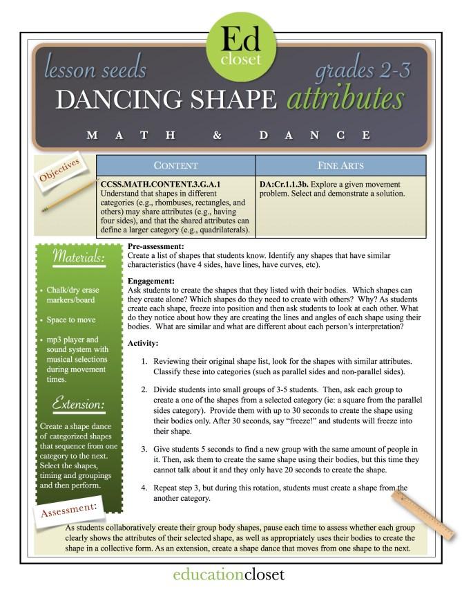 dancing shape attributes