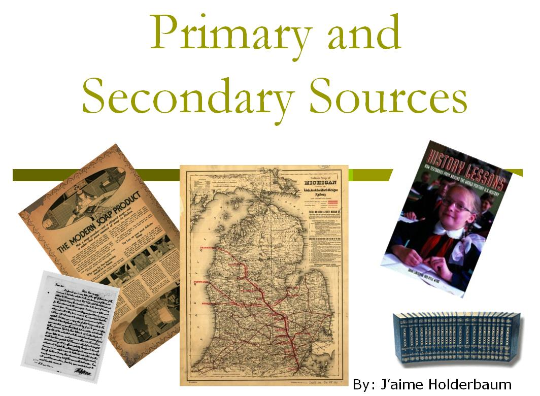 Primary Sources Day 1