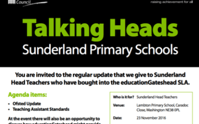 Talking Heads – Sunderland Primary Schools