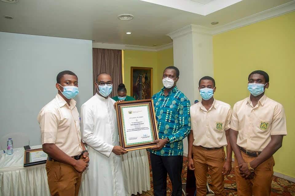 Adutwum presents Citations to 12 SHSs in Ashanti Region over Excellent Performance in WASSCE 3