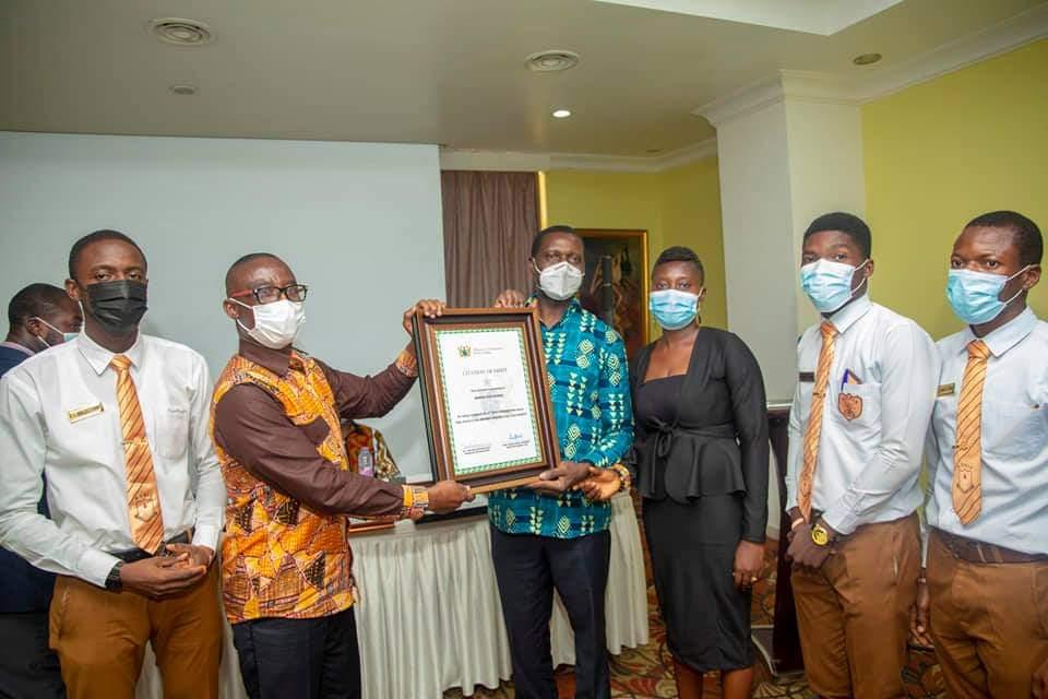 Adutwum presents Citations to 12 SHSs in Ashanti Region over Excellent Performance in WASSCE 7