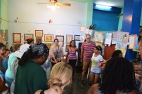 Dancing with the staff and youth of El Niño y la Niña.