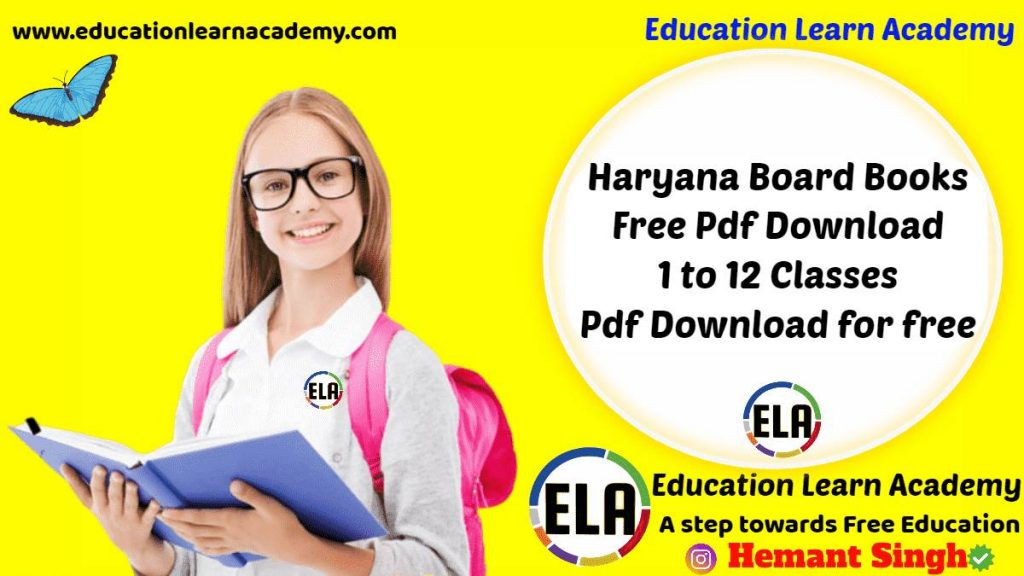 Haryana Board Books Free Pdf Download by SCERT 1 to 12 Classes Download School Textbooks Pdf Online for free