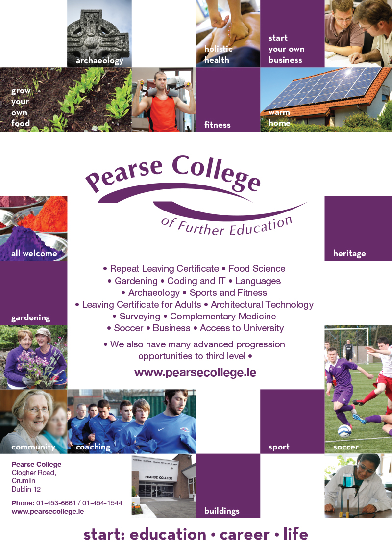 Pearse College Education Magazine A4 Advert Print