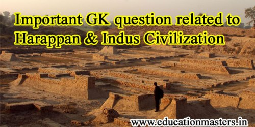 Important GK question related to Harappan & Indus Civilization