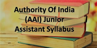 AAI Jr Assistant Syllabus