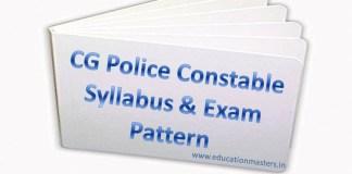 CG Police Syllabus