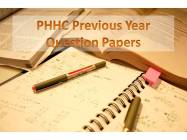 PHHC Papers