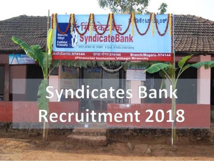 Syndicate Bank PO Recruitment