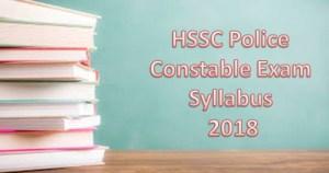 hssc police syllabus