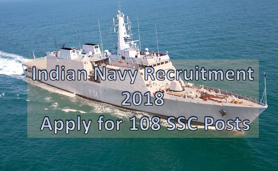 indian navy jobs 2018