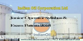 IOCL Junior operator syllabus