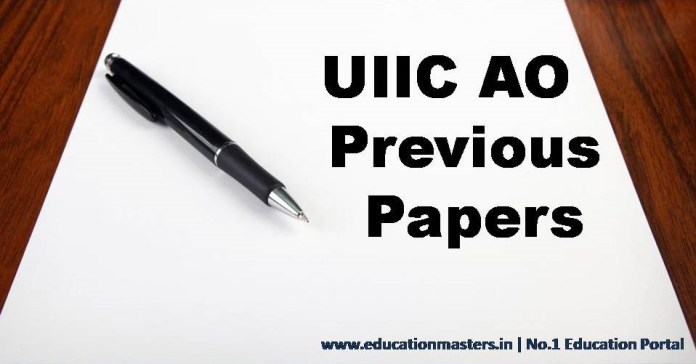 UIIC AO Previous Papers