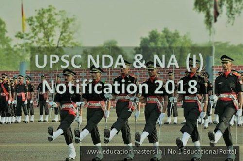 UPSC NDA Recruitment 2018