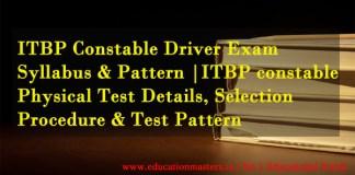 ITBP-Constable-Syllabus