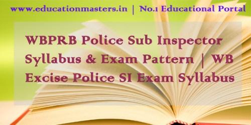 WBPRB-Police-SI-Syllabus