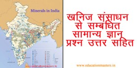 geography mineral gk in hindi