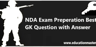 Top 20 NDA exam preparation Question with Answer