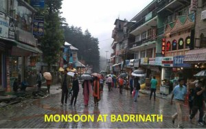 monsoon weather at badrinath